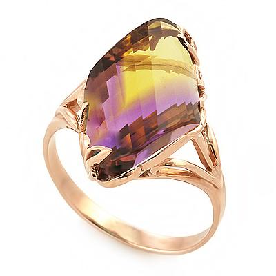 Кольцо с аметриновым кварцем 5.82 г SL-2886-582
