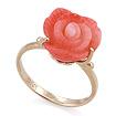 Золотое кольцо с кораллом SL-0551-490 весом 4.9 г  стоимостью 25500 р.