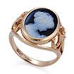 Золотое кольцо с камеей из натурального агата SL-2223-536 весом 4.54 г  стоимостью 23500 р.